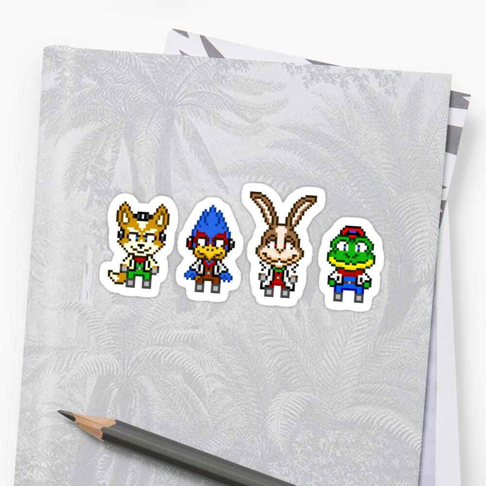 Star Fox Team Mini Pixels by geekmythology