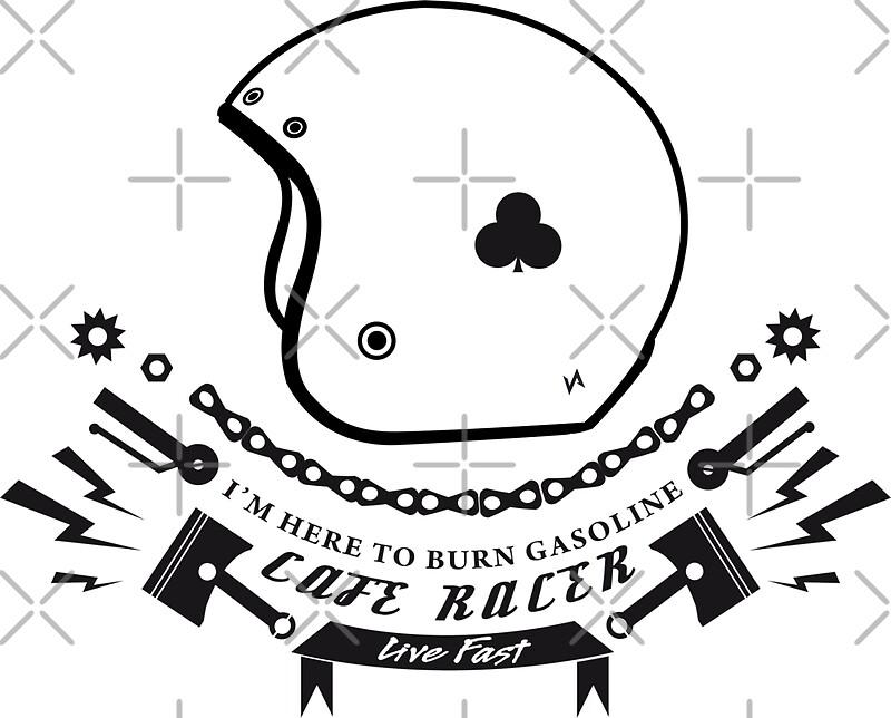 "sticker ace cafe racer"" stickersvisualaffection   redbubble"