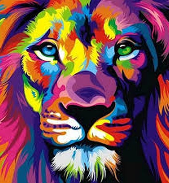 Good Vibes Lion by frankieee