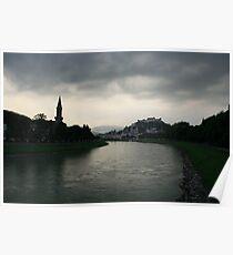 Salzburg, A River View. Poster