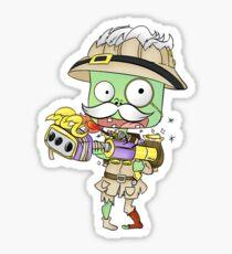 Archaeologist Zombie Sticker Sticker