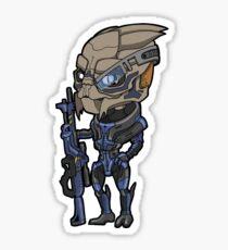 Mass Effect - Garrus Vakarian Turian with Sniper Rifle Chibi Sticker Sticker
