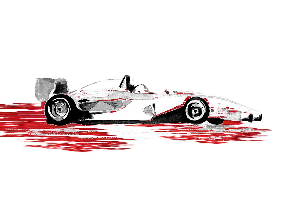 On Track! Red Racing Car by Catherine Hoggins