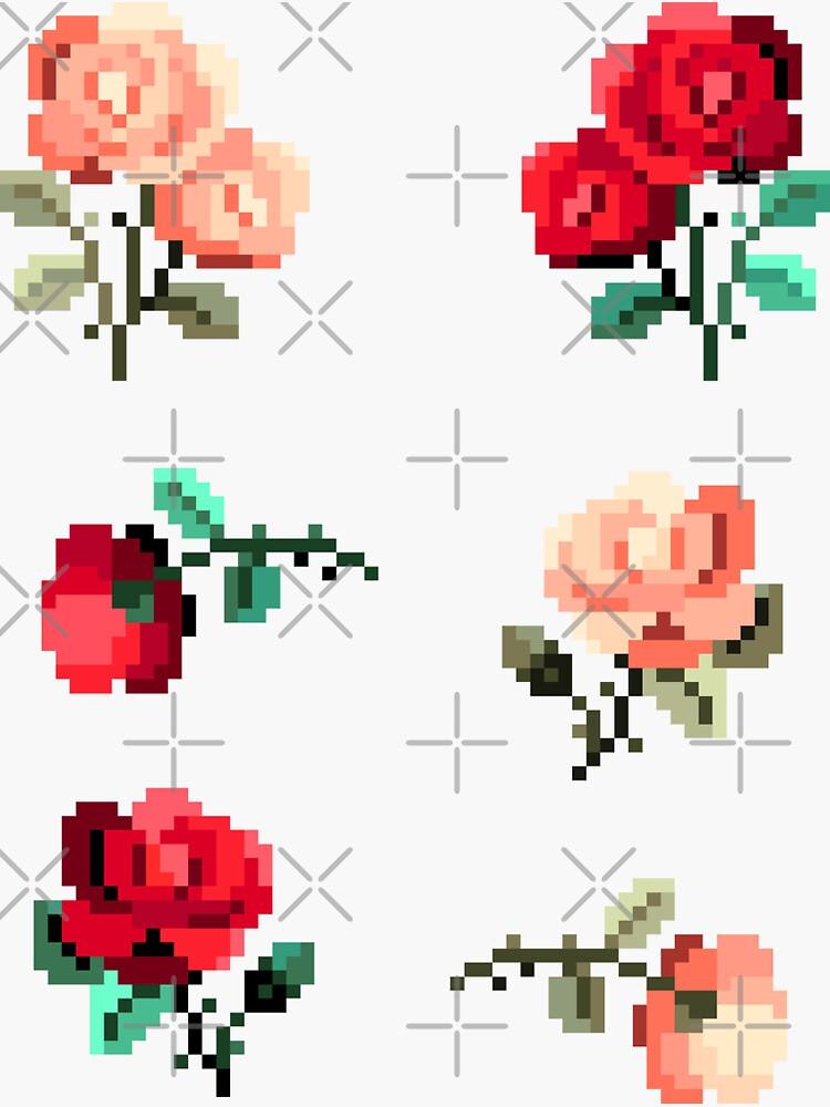 Mini Pixel Rosen - 6er Set von pixelatedcowboy
