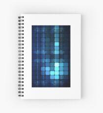 Blue squares Spiral Notebook
