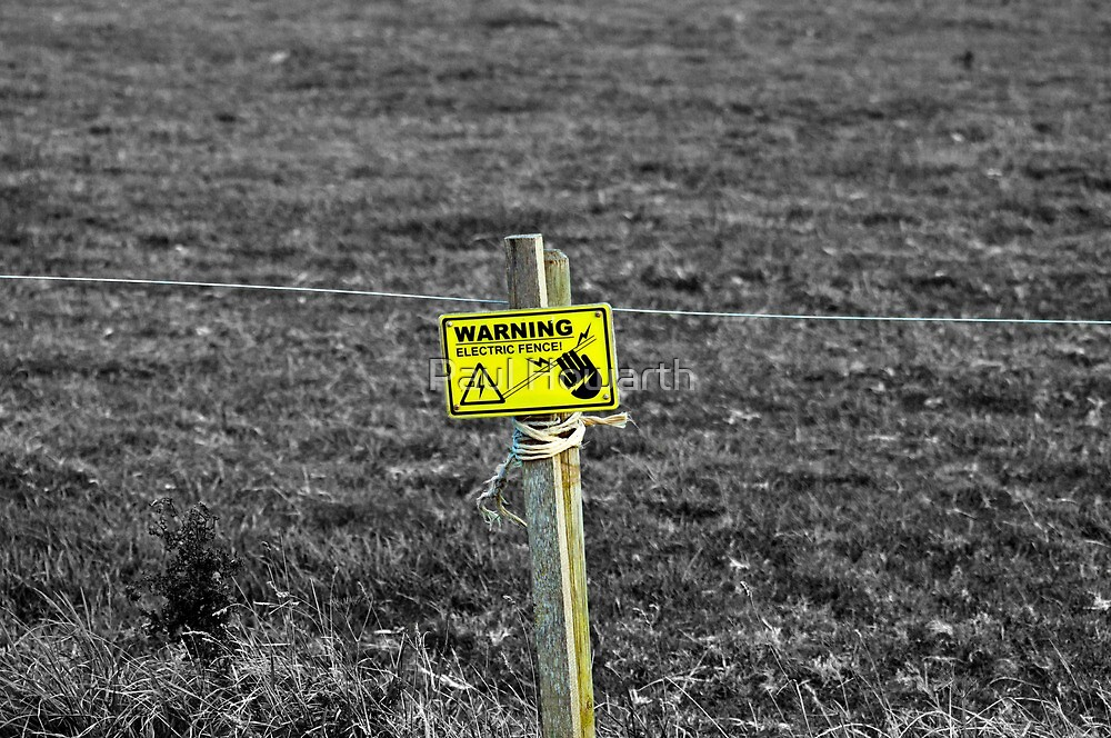 Electric fence by Paul Howarth