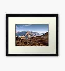 The View from Crown Peak Framed Print