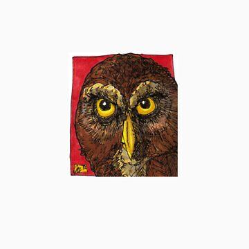 owl face by eljordo