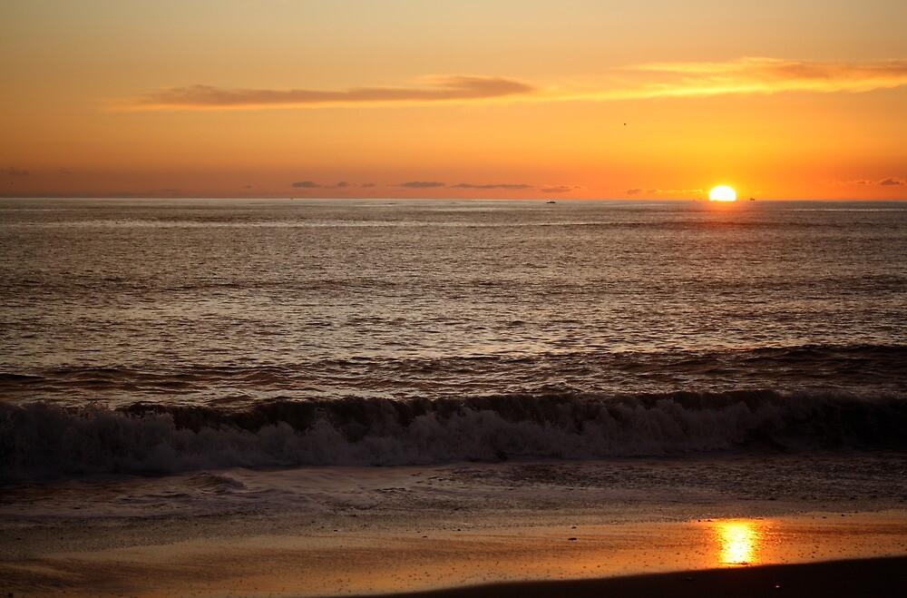 Sunset at the Beach by Sarah Vilar