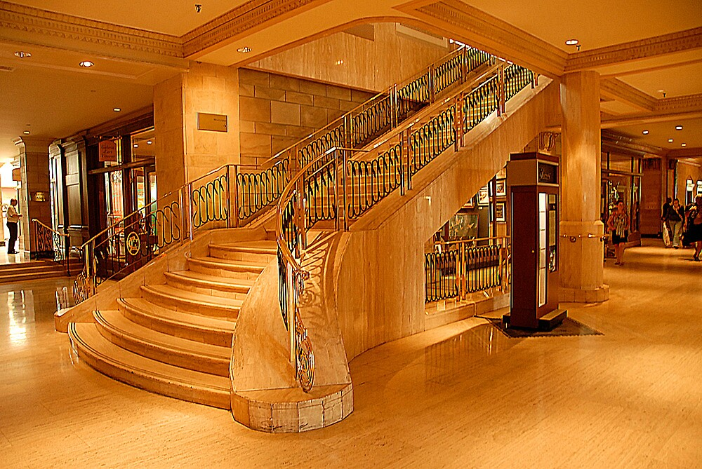 stairs in the Fairmont Chateau Laurier by Klaus Bohn