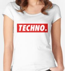 Techno. Women's Fitted Scoop T-Shirt