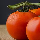 Closeup of cherry tomatoes by homydesign