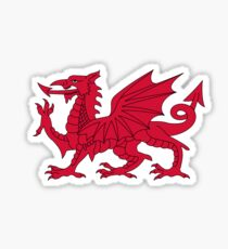 Red Welsh Dragon - Flag of Wales - Sport T-Shirt Sticker Bedspread Duvet Sticker
