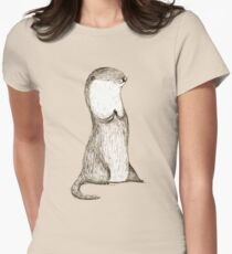 Sitting Otter Women's Fitted T-Shirt