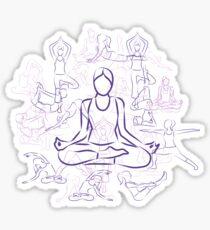Violet Yoga Sticker