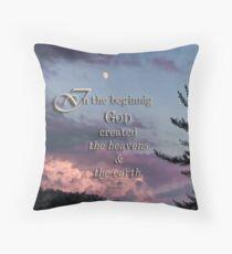 In the beginning (Gen.1:1) Throw Pillow