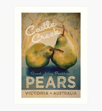 Castle Creek Pears Sign Art Print