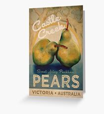 Castle Creek Pears Sign Greeting Card