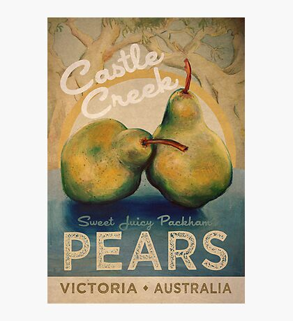 Castle Creek Pears Sign Photographic Print