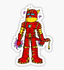 Iron cat Sticker