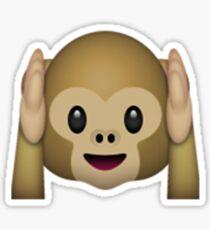 Monkey Emoji - Hear No Evil Sticker