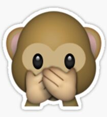 Monkey Emoji - Speak No Evil Sticker