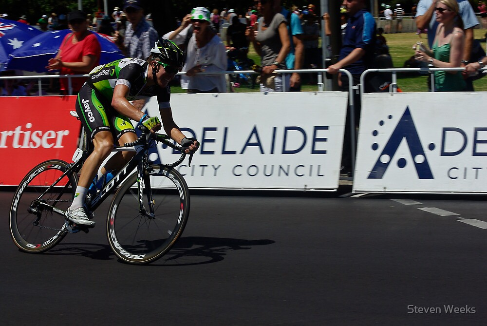 Cameron Meyer, Stage 6, City Circuit, Tour Down Under 2012 by Steven Weeks