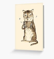 Accordion Tiger Greeting Card