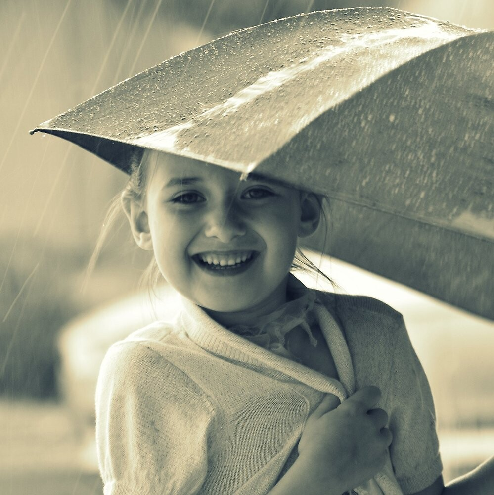 smiling in the rain by Astrid Allan