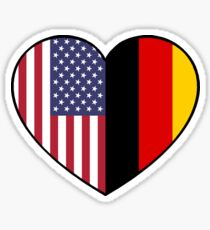 USA & Germany Sticker