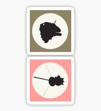 New Horizons & Cassini Sticker