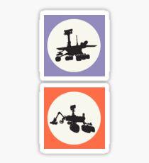 Opportunity & Curiosity Sticker
