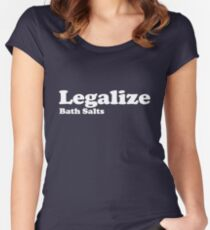 Legalize Bath Salts (White Text) Women's Fitted Scoop T-Shirt
