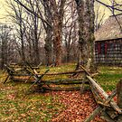 The Fence In Front of the Old Wick Farmhouse, Jockey Hollow NJ by Jane Neill-Hancock