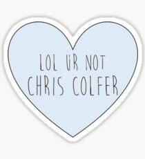 Lol ur not Chris Colfer Sticker