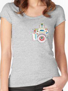 Rainbow Camera Fun Women's Fitted Scoop T-Shirt