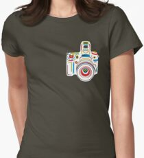 Rainbow Camera Fun Womens Fitted T-Shirt