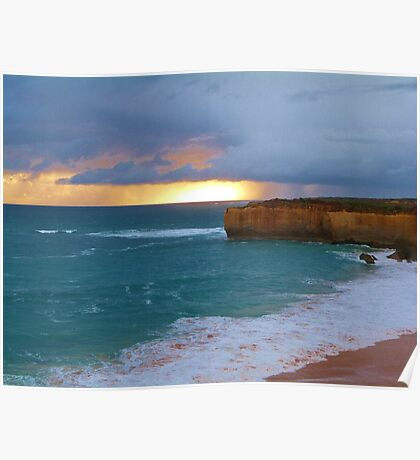 Looking west across Loch Ard Gorge Poster