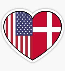 USA & Denmark Sticker