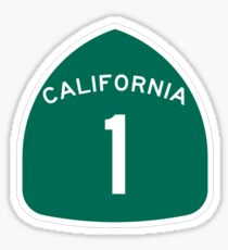 California Highway 1 T-Shirt - State Route One Road Sign Sticker PCH Sticker