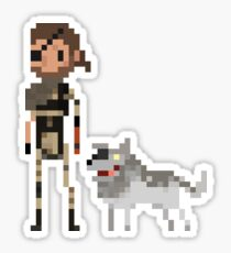Pixel Big boss & Diamond dog Sticker