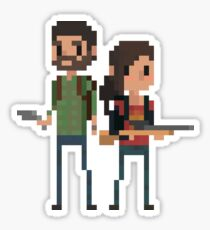 Pixel Joel & Ellie Sticker