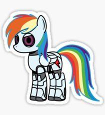 My Little Portal - Rainbow Dash Sentry Sticker
