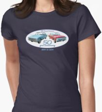 XM Falcon 50 year anniversary (white background) Women's Fitted T-Shirt
