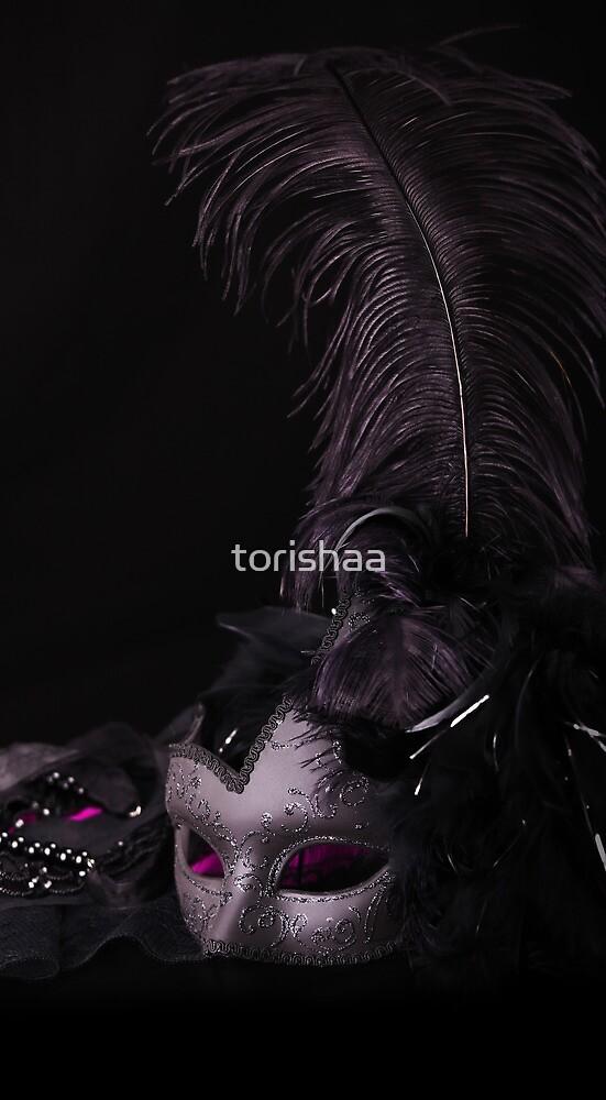 Venetian Mask, against black background by torishaa