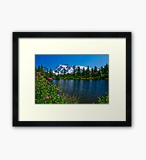 Mount Shuksan and Highwood Lake Framed Print