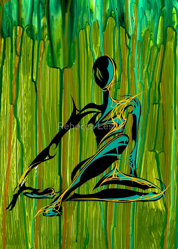 Seated Harlequin by Rebecca Lesny