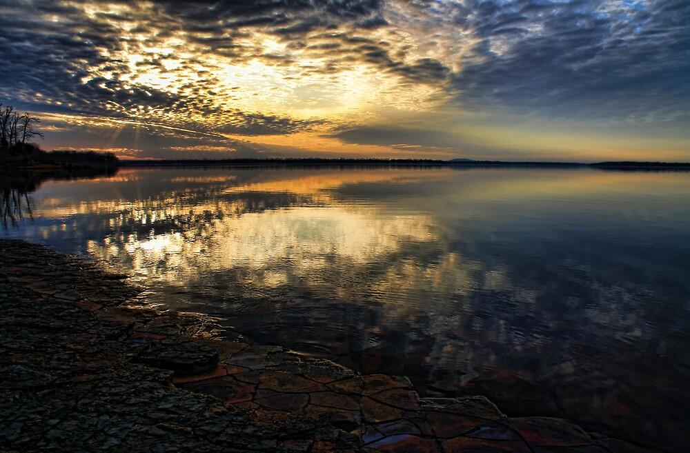 Sunset In February by Carolyn  Fletcher