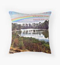 The Rainbow - Covenant - Genesis 9:13 Throw Pillow