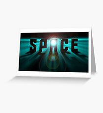Space Stars Trek Sci fi Greeting Card